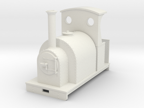 Gn15 saddle tank loco with semi open cab in White Strong & Flexible