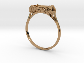 Master Sword Wedding Ring in Polished Brass