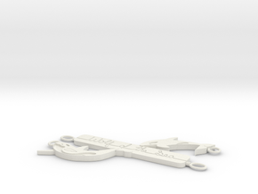 Orca - Wolf Of The Sea V 2 Pendant in White Strong & Flexible