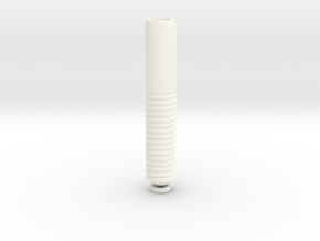 Long Drip Tip in White Strong & Flexible Polished
