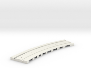 P-165stp-curve-tram-long-250r-pl-3a in White Strong & Flexible