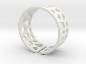 Ring Voronoi1 in White Strong & Flexible
