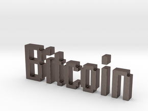 Bitcoin 3D in Stainless Steel