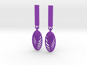 Quark Earrings - Eternal Drops (1mz5ZO)  in Purple Strong & Flexible Polished
