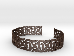 Khandi Bangle C Single in Matte Bronze Steel