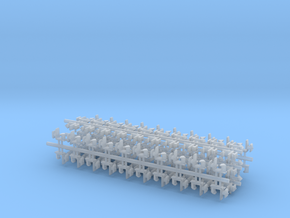 100 Rapido coupler 1.25mm shaft N Gauge 011213 in Frosted Ultra Detail