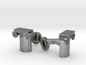Ionic Cufflinks in Polished Silver