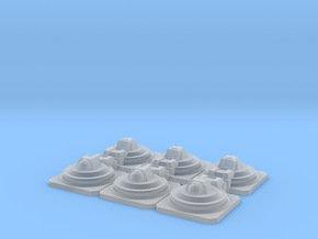 15mm Sci-Fi Armored Crew Hatches-Six Pack in Frosted Ultra Detail