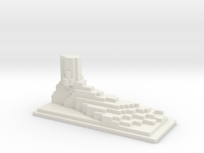 Minecraft style foot in White Strong & Flexible