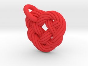 Celtic Heart Knot in Red Strong & Flexible Polished