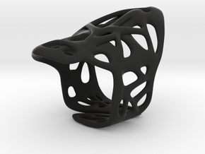 The Weave Ring in Black Strong & Flexible