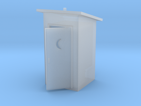 S-Scale Slant Roof Outhouse in Frosted Ultra Detail