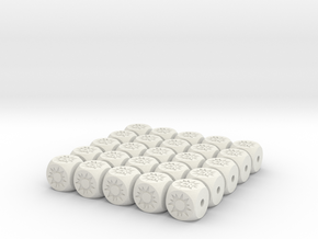 Crit Hit D6 - 12mm Hollow 25pk. in White Strong & Flexible