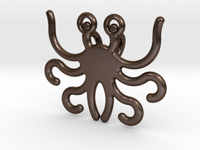 Flying Spaghetti Monster in Polished Bronze Steel