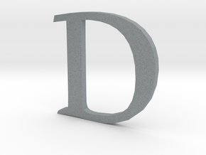 D (letters series) in Polished Metallic Plastic