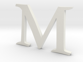 M (letters series) in White Strong & Flexible
