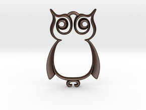 The Owl Pendant in Matte Bronze Steel