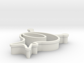 Astronaut Cookie Cutter in White Strong & Flexible
