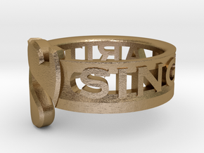 SU2013 Ringsize3 in Polished Gold Steel