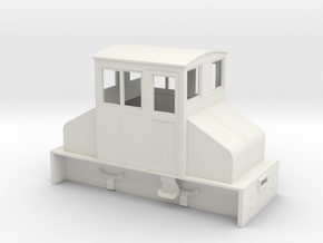 On18 Large Steeplecab loco  in White Strong & Flexible