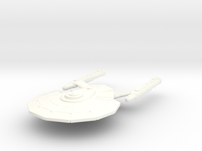 USS Cernan in White Strong & Flexible Polished