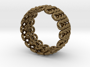 Knitter's Ring (59mm) in Polished Bronze
