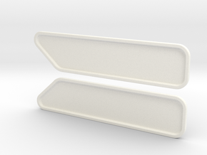 KW Standup Bunk Cap Windows (S) in White Strong & Flexible Polished