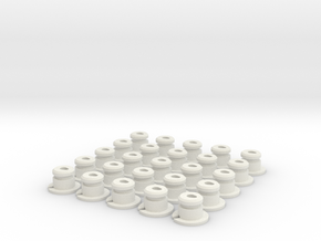 AAA-Cell Battery Base (25) in White Strong & Flexible