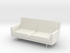 """1/2"""" Scale 2Seats Sofa in White Strong & Flexible"""