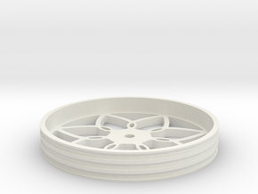 100mmFloppyBotWheel-03 in White Strong & Flexible