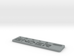 Ender Dogtag Small in Polished Metallic Plastic