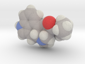 Lsd molecule (x40,000,000, 1A = 4mm) in Full Color Sandstone