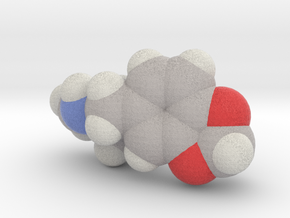 Mdma molecule (x40,000,000, 1A = 4mm) in Full Color Sandstone