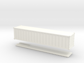 Z Scale 40' Intermodal Container in White Strong & Flexible Polished