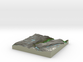 Terrafab generated model Tue Nov 05 2013 12:43:30  in Full Color Sandstone