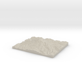 Model of Emmons Glacier in Sandstone