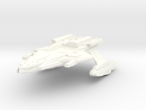 Trelltross Class AttackCruiser in White Strong & Flexible Polished