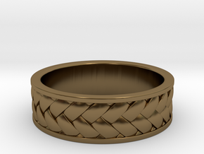 Woven Ring in Polished Bronze