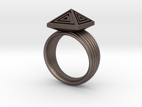 Pyramid Ring in Stainless Steel