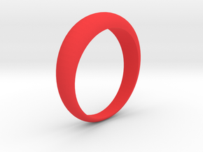 Simple Ring - Size 6,5 (Usa) in Red Strong & Flexible Polished