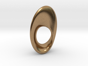 Mobius Oval 16x23mm in Raw Brass