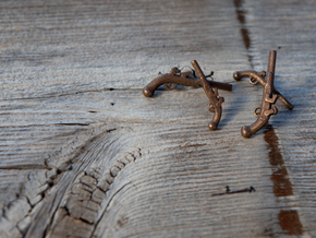 Dueling Pistol Cufflinks in Matte Bronze Steel