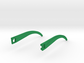 Temple T 009  in Green Strong & Flexible Polished