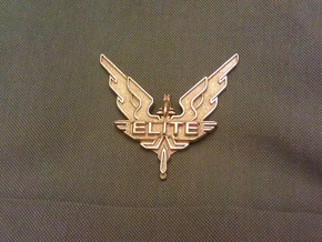 Elite - wings / badge in Polished Gold Steel