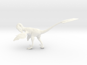 1:12 Scale Velociraptor  (Preening) in White Strong & Flexible Polished