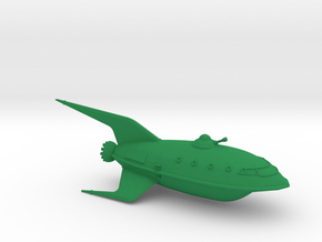 1/350 Futurama Planet Express (WSF Solid) :-) in Green Strong & Flexible Polished