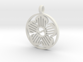 Immortal Flower Pendant in White Strong & Flexible