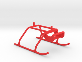 3D printed landingskip BLH3504 in Red Strong & Flexible Polished