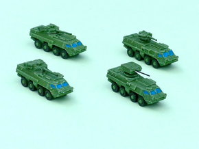 BTR-4 Ukranian APC Family 2  1/285 6mm in Frosted Ultra Detail