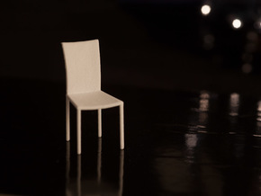 1:24 Dining Chair in White Strong & Flexible